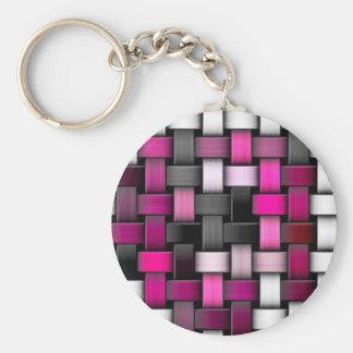 Purple knitted texture keychain