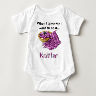 Purple Knitter - When I Grow Up I want to be a... T Shirt