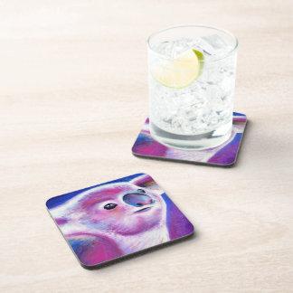 Purple Koala modern painting art coasters