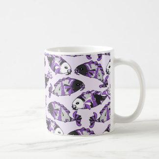 Purple Koi Fish Print Coffee Mug