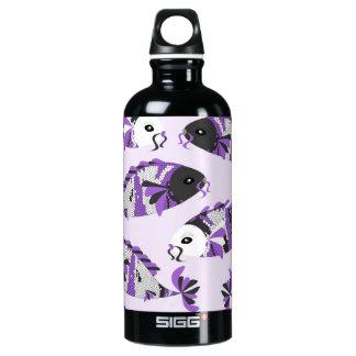 Purple Koi Fish Print Water Bottle