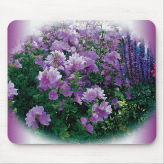 purple l flowers mouse pad