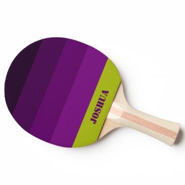 Purple La Rioja Palette Name Full Print Ping Pong Paddle
