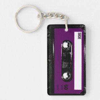 Purple Label Cassette Double-Sided Rectangular Acrylic Keychain