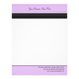 Purple Label Ribbon Business Letterhead