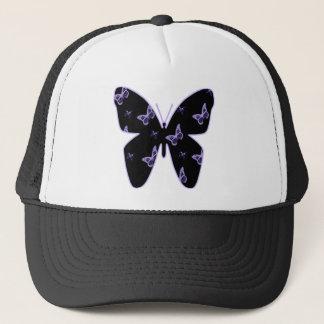 Purple Lace Butterflies Trucker Hat