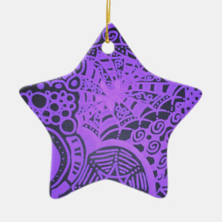 Purple Lace Ceramic Ornament