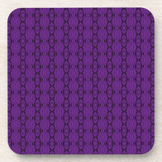 Purple Lace Cork Coaster