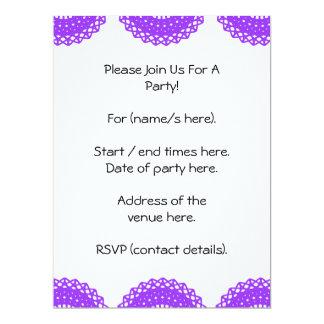 Purple lace design. card