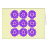 Purple Lace Design. Greeting Card