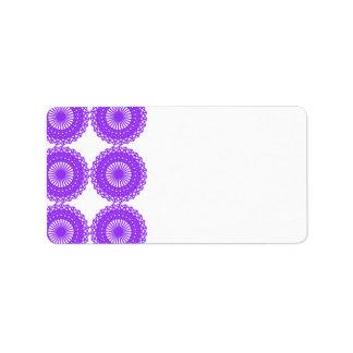 Purple Lace Design. Label