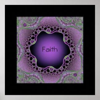 "Purple Lace ""Faith"" Wall Art Print Poster"