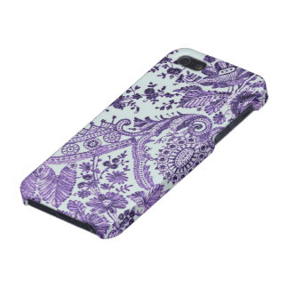 Purple Lace Flowers Cover For iPhone SE/5/5s