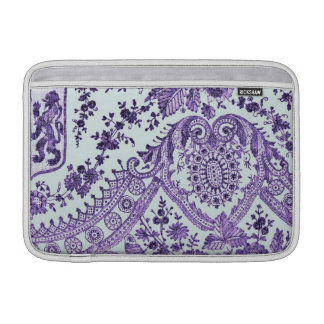 Purple Lace Flowers Sleeve For MacBook Air