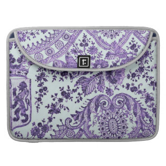 Purple Lace Flowers Sleeve For MacBook Pro