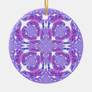 Purple Lace Fractal Ornament