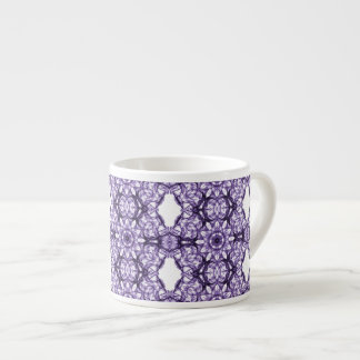 Purple Lace Fractal Pattern Espresso Cup
