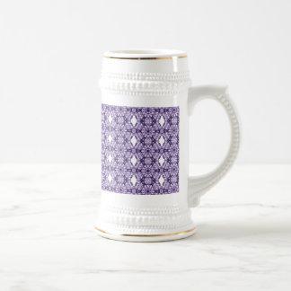 Purple Lace Fractal Pattern 18 Oz Beer Stein