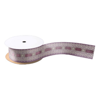 Purple Lace Gift Ribbon Satin Ribbon