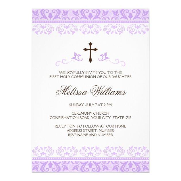 Purple lace girls first communion confirmation custom ...