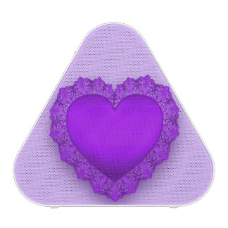 Purple Lace Heart Customizable Speaker