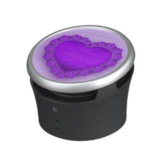Purple Lace Heart Customizable Speaker