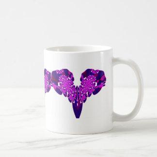 Purple Lace Heart Fractal 3 Mug