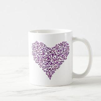 Purple lace Heart Mugs