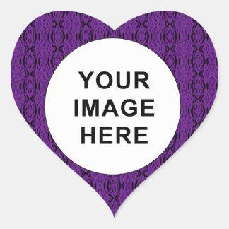 Purple Lace Heart Sticker