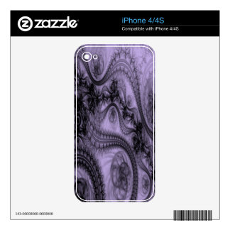 Purple Lace iPhone 4 Decal