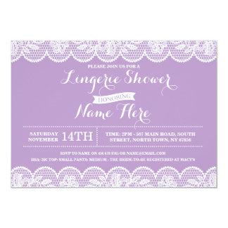 Purple Lace Lingerie Bridal Shower Invitation
