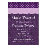 Purple Lace Little Princess Girl Baby Shower S21D Personalized Invitations