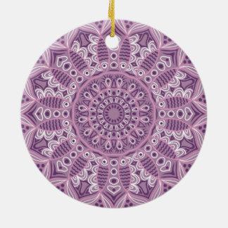 Purple Lace Pattern Ceramic Ornament