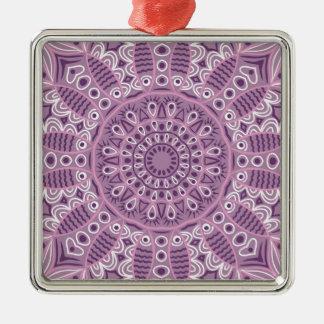 Purple Lace Pattern Metal Ornament