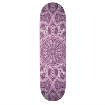 Purple Lace Pattern Skateboard Deck