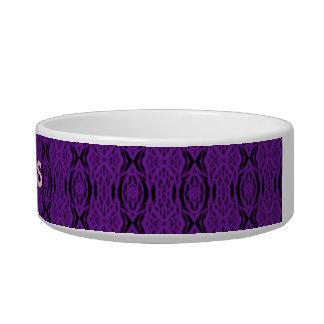 Purple Lace Pet Bowl