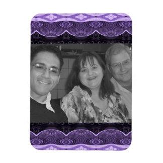 purple lace photoframe magnet