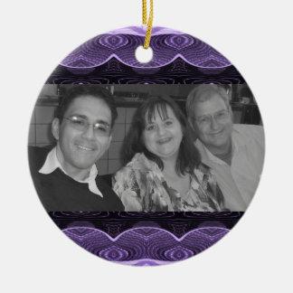 purple lace photoframe ornament