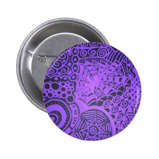 Purple Lace Pinback Button
