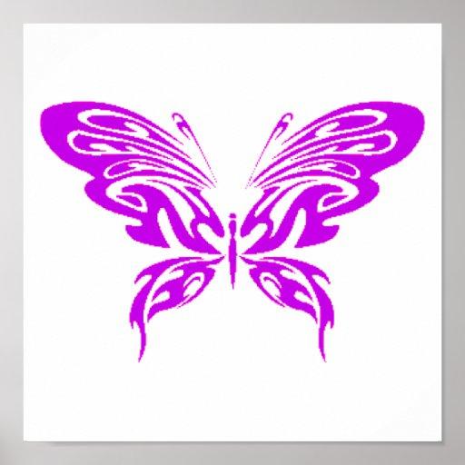 Purple Lace Poster