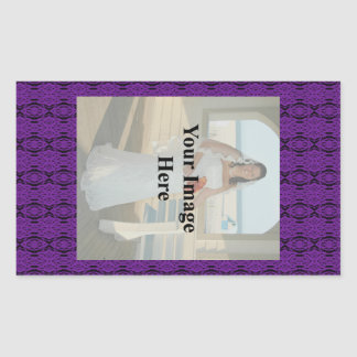 Purple Lace Rectangle Sticker