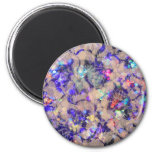 Purple Lace Roses 2 Inch Round Magnet