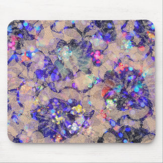 Purple Lace Roses Mouse Pad