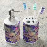 Purple Lace Roses Soap Dispenser And Toothbrush Holder at Zazzle