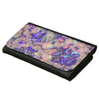 Purple Lace Roses Wallets