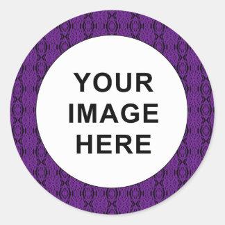 Purple Lace Round Sticker