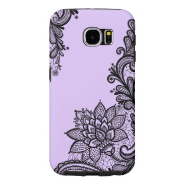 Aztec Themed (purple lace) samsung galaxy s6 case