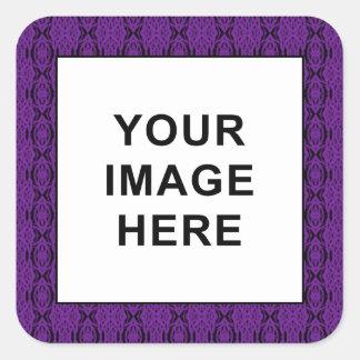 Purple Lace Square Sticker