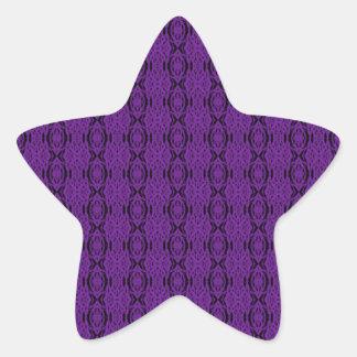 Purple Lace Star Sticker