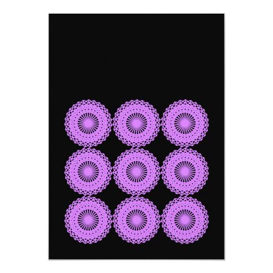 Purple Lace Style Design. Card
